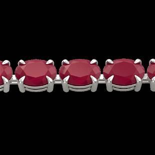 29 ctw Ruby Eternity Designer Bracelet 14k White Gold