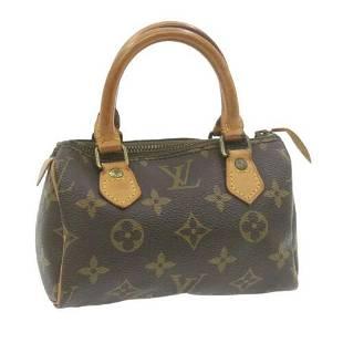 Authentic LOUIS VUITTON Monogram Mini Speedy Hand Bag