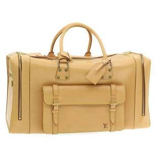 Authentic LOUIS VUITTON Nomade Boston Travel Bag Beige
