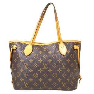 Authentic LOUIS VUITTON NEVERFULL PM HAND TOTE BAG