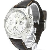Authentic IWC Spitfire Chronograph Leather Automatic
