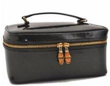Authentic GUCCI Bamboo Vanity Bag Enamel Black