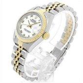 Authentic Rolex Datejust 69173 White Rome No.T Ladies