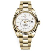 Authentic Rolex Sky-Dweller 326938 w White Dial Yellow