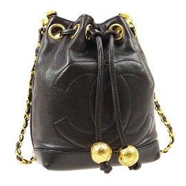 Authentic CHANEL Drawstring Chain Mini Shoulder Bag