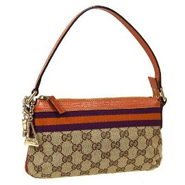 Authentic GUCCI ICON GG Pattern Hand Bag Pouch