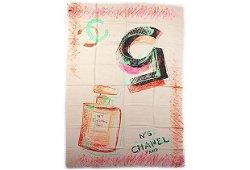 Authentic Chanel BN #5 Cashmere Silk Shawl