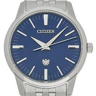 Authentic Citizen Eco-Drive AQ6100-56L Quartz Lame Blue