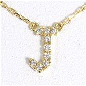 Authentic AHKAH Aker K18YG Necklace Diamond 0.04 Weight