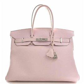 Authentic Hermes Veau Swift Birkin 35 Rose Dragee Pink