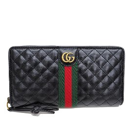 Authentic GUCCI 536450 Offidia GG Marmont Zip Around