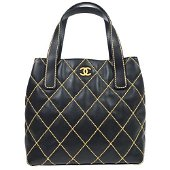 Authentic CHANEL Wild Stitch Quilted Hand Bag