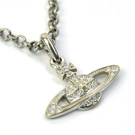 Authentic Vivienne Westwood Necklace Orb Silver Stone