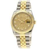 Authentic Rolex 116233G Datejust 10P Diamond Watch