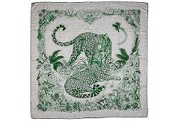 Authentic Hermes Rare Gray/Green Jungle Love Shawl