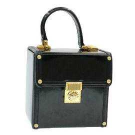 Authentic GIANNI VERSACE Sun Face Hand Bag cosmetic