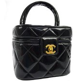 Authentic CHANEL Quilted Cosmetic Vanity Hand Bag