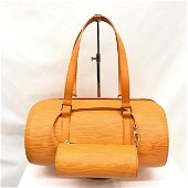 Authentic LOUIS VUITTON Handbag M5222H Sufro Epi Orange