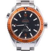 Authentic OMEGA Seamaster Plat Net Ocean Orange Bezel