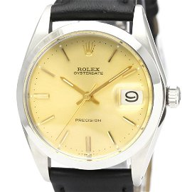 Authentic ROLEX Oyster Date Precision 6694 Steel