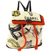 Authentic CHANEL Terry Cloth Quilted Backpack Bag