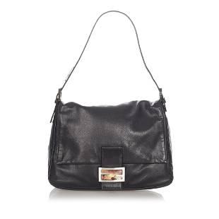 Authentic Fendi Mamma Forever Leather Shoulder Bag