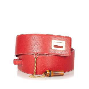 Authentic Gucci Bamboo Leather Belt