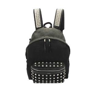 Authentic YSL City Studded Canvas Backpack