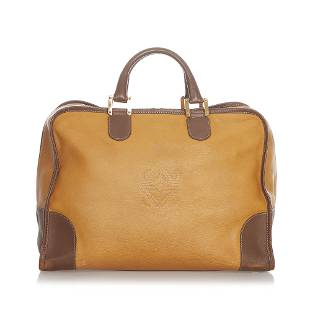 Authentic Loewe Amazona Leather Handbag