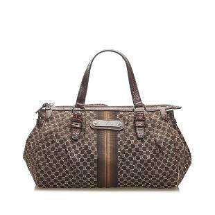 Authentic Celine Macadam Canvas Handbag