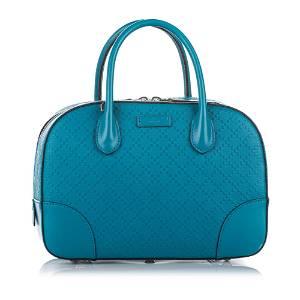 Authentic Gucci Diamante Bright Leather Satchel