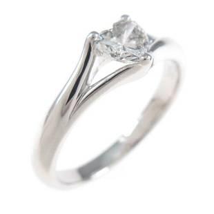 Authentic Platinum Heart Diamond ring