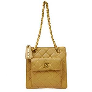 Authentic CHANEL Quilted Chain Hand Bag