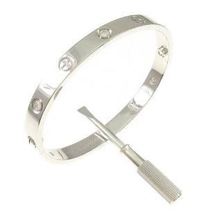 Authentic Cartier Love bracelet Half Diamond 6P