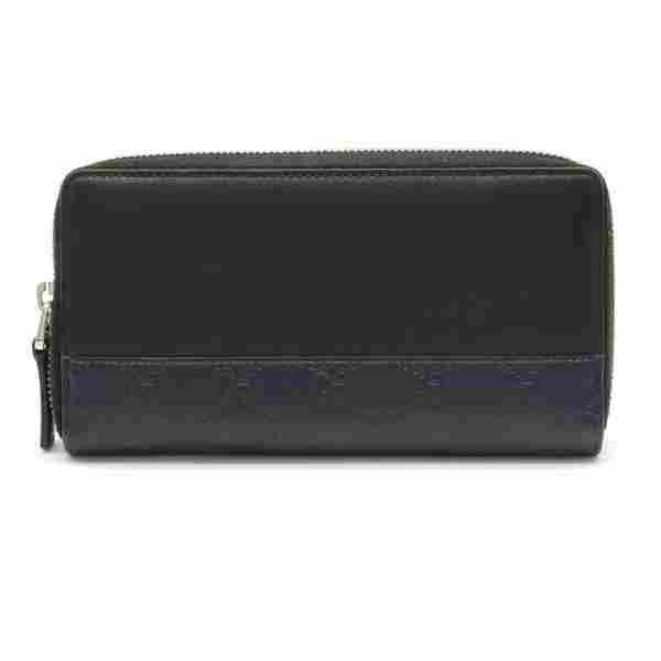 Authentic Gucci Mistral Shima GG pattern round wallet