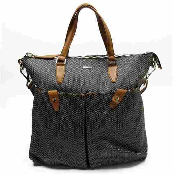 Authentic Zanellato Handbag Shoulder Bag 2Way Black