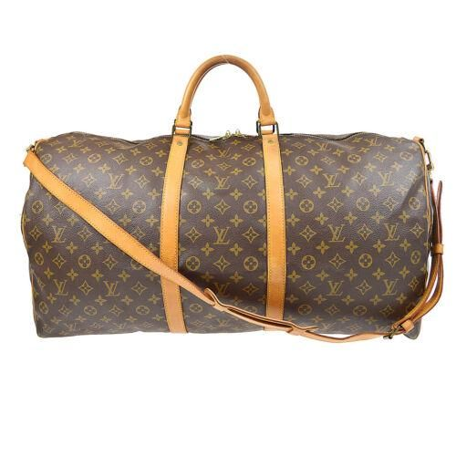 Authentic LOUIS VUITTON KEEPALL 60 BANDOULIERE 2WAY