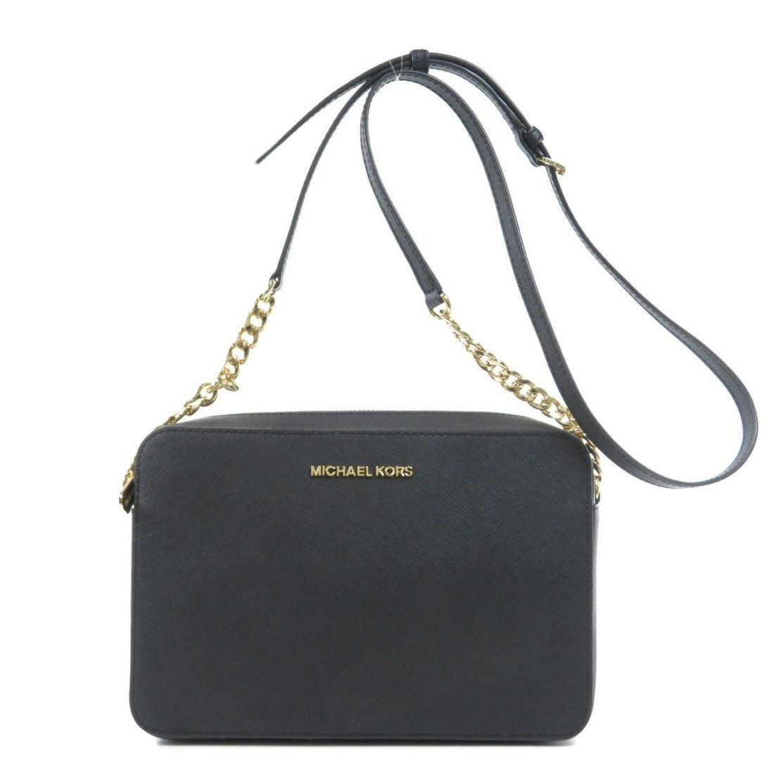 Authentic Michael Kors Logotype Shoulder Bag Leather