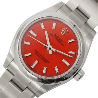 Authentic Rolex Oyster Perpetual 277200 Red Dial