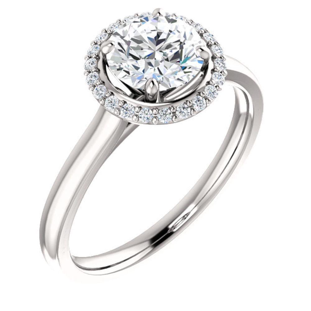 Diamond Ring .37 Ct TCW Gold 4K 2.30 g