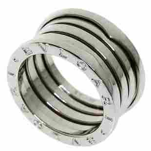 Authentic Bvlgari B-zero1 M # 55 Ring / K18 White Gold