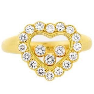 Authentic Chopard Diamond Happy Diamonds Icon Ring