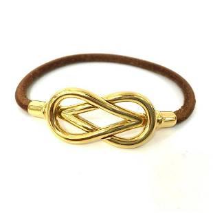Authentic HERMES (Hermes) Atame bracelet leather ladies