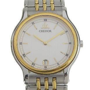 Authentic SEIKO Credor Men's Quartz Watch 9572-6000
