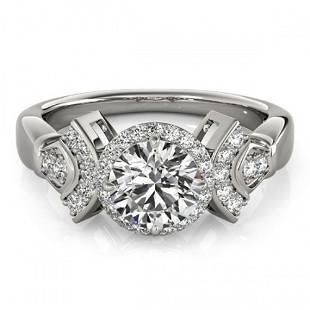 1.56 ctw Certified VS/SI Diamond Halo Ring 18k White