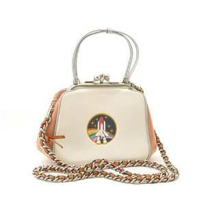 Authentic COACH Leather 2Way A Metal Clasp Shoulder Bag
