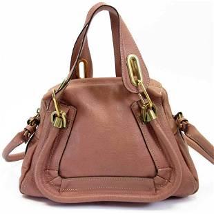 Authentic Chloé Chloe Handbag Mercy Pink Gold