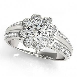 2.05 ctw Certified VS/SI Diamond Halo Ring 18k White