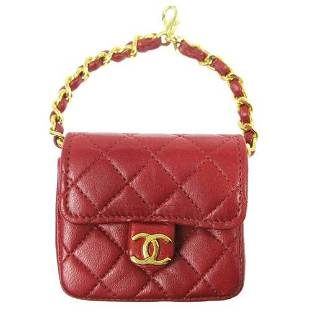 Authentic CHANEL CC Quilted Multi Pouch Bag Chain Belt