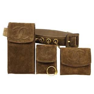 Authentic CHANEL Triple Set CC Waist Bag